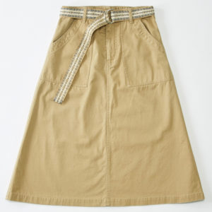 チノAラインスカート ベージュ