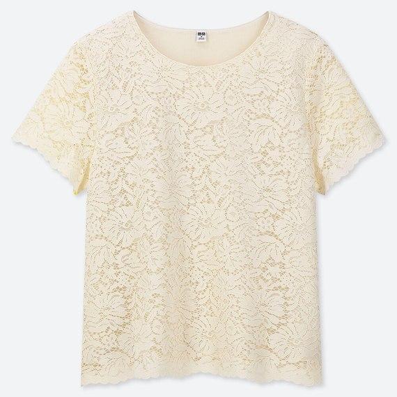レースT(半袖) (オフホワイト)